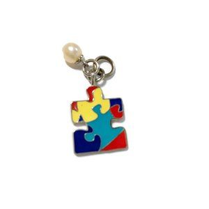 Vantel Pearls Autism puzzle piece with pearl
